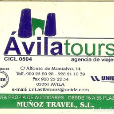 Coleccionismo Calendarios: CALENDARIO PUBLICITARIO - 2003 - AVILA TOURS - MUÑOZ TRAVEL. Lote 195330647