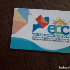 Coleccionismo Calendarios: CALENDARIO DE PUBLICIDAD CONVENCIÓN EUROPEA DE COLECCIONISMO, TORREMOLINOS AÑO 2014. Lote 195353312