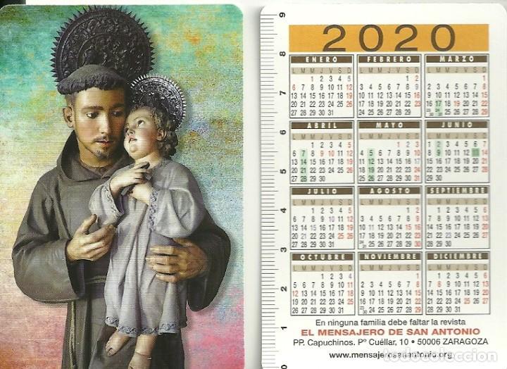 CALENDARIO PUBLICITARIO. EL MENSAJER DE SAN ANTONIO. ZARAGOZA. AÑO 2020 (Coleccionismo - Calendarios)