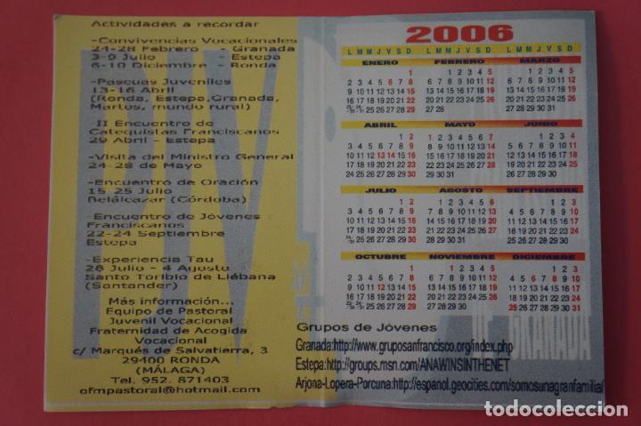 Coleccionismo Calendarios: CALENDARIO DE BOLSILLO CON PUBLICIDAD OFM GRANADA AÑO 2006 LOTE 25 MIRAR FOTOS - Foto 2 - 195372941
