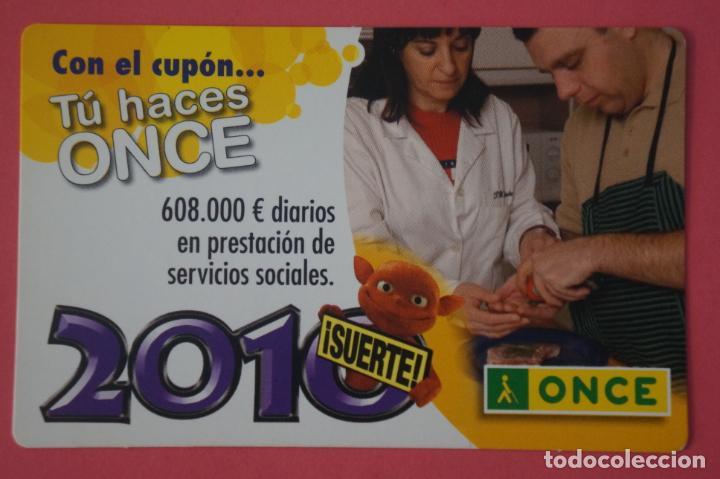 CALENDARIO DE BOLSILLO CON PUBLICIDAD LOTERIA DE LA ONCE AÑO 2010 LOTE 25 MIRAR FOTOS (Coleccionismo - Calendarios)