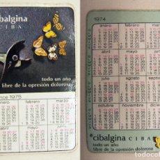Coleccionismo Calendarios: CALENDARIO DE BOLSILLO 1974/75 CIBALGINA-CIBA. Lote 195375708