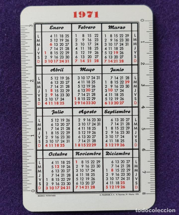 Coleccionismo Calendarios: CALENDARIO FOURNIER. FUENTE DEL VAL. VIGO. 1971 - Foto 2 - 195393462