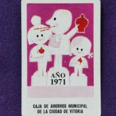 Coleccionismo Calendarios: CALENDARIO FOURNIER. CAJA DE AHORROS MUNICIPAL DE LA CIUDAD DE VITORIA. VIGO. 1971. Lote 195393618