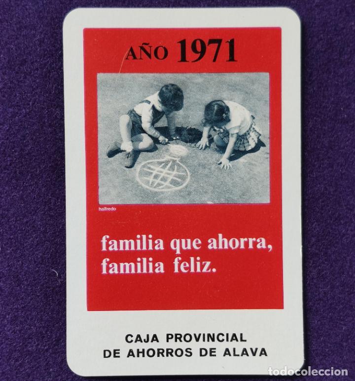 CALENDARIO FOURNIER. CAJA PROVINCIAL DE AHORROS DE ALAVA. 1971 (Coleccionismo - Calendarios)