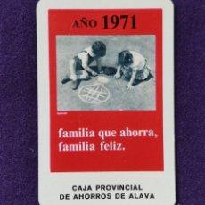 Coleccionismo Calendarios: CALENDARIO FOURNIER. CAJA PROVINCIAL DE AHORROS DE ALAVA. 1971. Lote 195393685