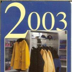 Coleccionismo Calendarios: CALENDARIO PUBLICITARIO - 2003 - PEUGEOT. Lote 195429061