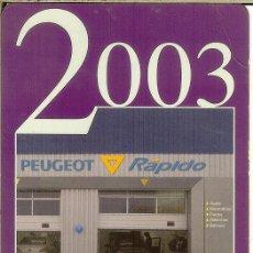 Coleccionismo Calendarios: CALENDARIO PUBLICITARIO - 2003 - PEUGEOT. Lote 195429245