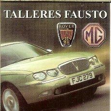 Coleccionismo Calendarios: CALENDARIO PUBLICITARIO - 2004 - ROVER MG - TALLERES FAUSTO (BURGOS). Lote 195429407