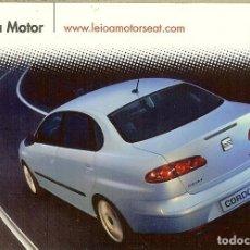 Coleccionismo Calendarios: CALENDARIO PUBLICITARIO - 2003 - SEAT - LEIOA MOTOR. Lote 195429512
