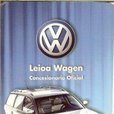 Coleccionismo Calendarios: CALENDARIO PUBLICITARIO - 2003 - VOLKSWAGEN - LEIOA WAGEN. Lote 195429722