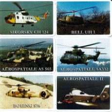 Coleccionismo Calendarios: LOTE COLECCION 8 CALENDARIOS HELICOPTEROS MILITAR EJERCITO AÑO 2007 DE NAIPES COMAS. Lote 195449001