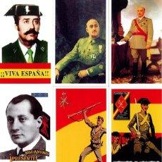 Coleccionismo Calendarios: 7 CALENDARIOS FRANCO-TEJERO-JOSE ANTONIO-GUARDIA CIVIL-LEGION AÑO 2002. Lote 195450391