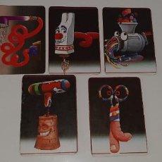 Coleccionismo Calendarios: LOTE DE 5 CALENDARIOS DE BOLSILLO PUBLICITARIOS CON LOS DIBULOCOS DE PANRICO AÑOS 80. Lote 195466705