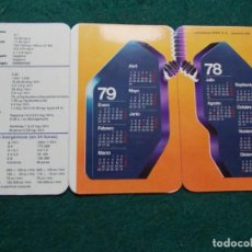 Coleccionismo Calendarios: CALENDARIO CON DOS AÑOS 1978-1979. Lote 195486890