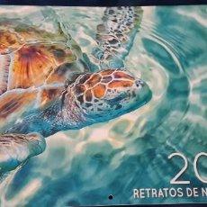 Coleccionismo Calendarios: CALENDARIO ALMANAQUE 2019 WWF ADENA RETRATOS DE NATURALEZA IMPACTANTES IMÁGENES COLOR . Lote 195544288