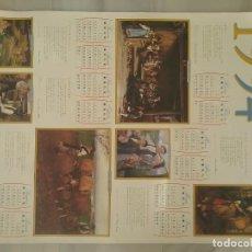 Coleccionismo Calendarios: CALENDARIO PÓSTER 1994 MUSEU BELLES ARTES ASTURIES. Lote 195552813