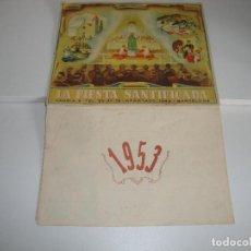 Coleccionismo Calendarios: CALENDARIO PARED LA FIESTA SANTIFICADA 1953. Lote 195851755