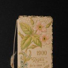 Coleccionismo Calendarios: CALENDARIO - ALMANAQUE - PUBLICIDAD CHOCOLATE JUNCOSA (AÑO 1900). Lote 196794843