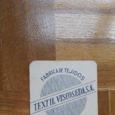 Coleccionismo Calendarios: CALENDARIO FOURNIER TEXTIL VISCOSEDA. VISSA. BURGOS. AÑO 1964. VER FOTO ADICIONAL. Lote 197424863