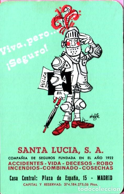 CALENDARIO FOURNIER SANTA LUCIA AÑO 1972 (Coleccionismo - Calendarios)