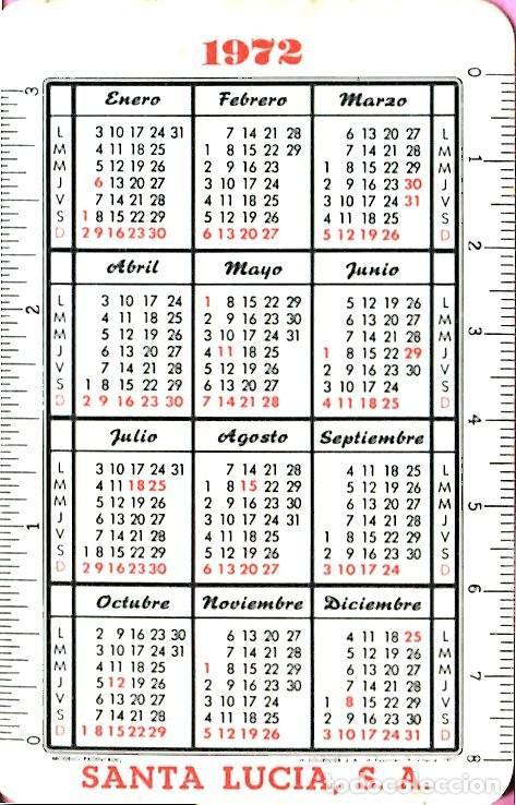 Coleccionismo Calendarios: CALENDARIO FOURNIER SANTA LUCIA AÑO 1972 - Foto 2 - 198222775