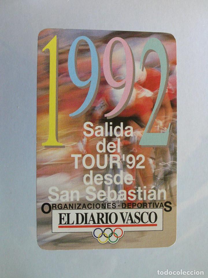 FOURNIER - EL DIARIO VASCO 1992 (Coleccionismo - Calendarios)