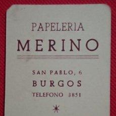 Coleccionismo Calendarios: EXCLUSIVO RARO CALENDARIO PAPELERIA MERINO DE BURGOS - PALENCIA AÑO 1958. Lote 198579016