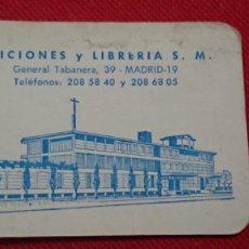 Coleccionismo Calendarios: CALENDARIO EDICIONES Y LIBRERÍA S. M. AÑO 1969. Lote 198579186