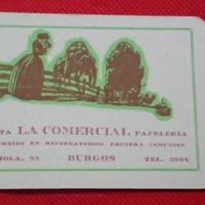 Coleccionismo Calendarios: CALENDARIO IMPRENTA LA COMERCIAL DE BURGOS AÑO 1962. Lote 198579492