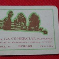 Coleccionismo Calendarios: CALENDARIO IMPRENTA LA COMERCIAL DE BURGOS AÑO 1962. Lote 198579523