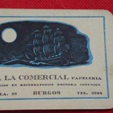 Coleccionismo Calendarios: CALENDARIO IMPRENTA LA COMERCIAL DE BURGOS AÑO 1962. Lote 198579542