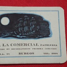 Coleccionismo Calendarios: CALENDARIO IMPRENTA LA COMERCIAL DE BURGOS AÑO 1962. Lote 198579571