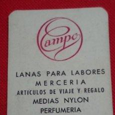 Coleccionismo Calendarios: EXCLUSIVO RARO CALENDARIO ALMACENES CAMPO DE BURGOS AÑO 1957. Lote 198580575