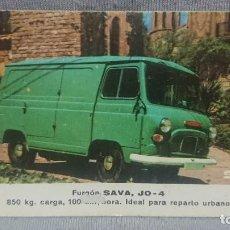 Coleccionismo Calendarios: CALENDARIO SAVA - FURGON SAVA AÑO 1970. Lote 198646900