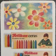 Coleccionismo Calendarios: AÑO 1979. CALENDARIO PELIKAN, LÁPICES DE CERA. DEFECTO.. Lote 198785733