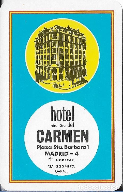 CALENDARIO FOURNIER 1965 HOTEL NTRA. SRA. DEL CARMEN - MADRID (Coleccionismo - Calendarios)
