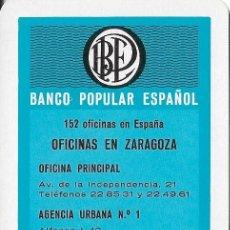 Coleccionismo Calendarios: CALENDARIO FOURNIER 1967 BANCO POPULAR ESPAÑOL - OFICINAS EN ZARAGOZA. Lote 99658703