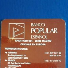 Collezionismo Calendari: 1 CALENDARIO DE ** BANCO POPULAR ** .AÑO 1991 . Lote 199269163