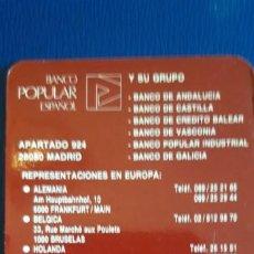 Collezionismo Calendari: 1 CALENDARIO DE ** BANCO POPULAR ** .AÑO 1992. Lote 199269373