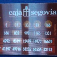 Collezionismo Calendari: 1 CALENDARIO DE ** CAJA SEGOVIA . CONVERTIDOR** .AÑO 2002 . Lote 199272990