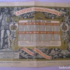 Coleccionismo Calendarios: ANTIGUO CALENDARIO. ALMANACH FÜR 1888. C. M. GÄRTNER, SCHNEEBERG. ALEMANIA. 30X23 CM.. Lote 199657813