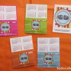 Coleccionismo Calendarios: LOTE 5 CALENDARIOS AÑOS 2014 2015 2016 2019 2020 - JUBILADOS TRANVIAS METRO AUTOBUSES BARCELONA. Lote 200246293