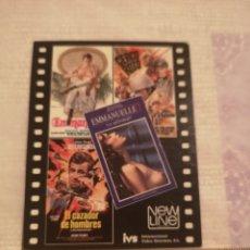 Coleccionismo Calendarios: CALENDARIO ISV 1986 PUBLICIDAD DE CINE.. Lote 200400211