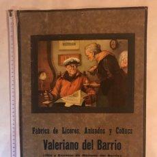 Coleccionismo Calendarios: CARTEL/CALENDARIO 1942 FABRICA DE LICORES . BURGOS. Lote 201164576