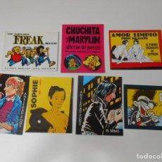 Collezionismo Calendari: LOTE 7 CALENDARIOS ORIGINALES AÑO 1984 VIBORA EDICIONES LA CUPULA COMIC ANGEL COLOMER ANSIEDAD PONS. Lote 201304491