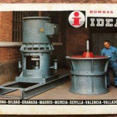 Coleccionismo Calendarios: BOMBAS IDEAL. CALENDARIO HERACLIO FOURNIER DE 1975.. Lote 203728400