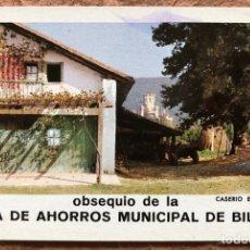 Coleccionismo Calendarios: CAJA MUNICIPAL DE BILBAO (CASERIO EN BUTRÓN). CALENDARIO HERACLIO FOURNIER DE 1973.. Lote 203838131