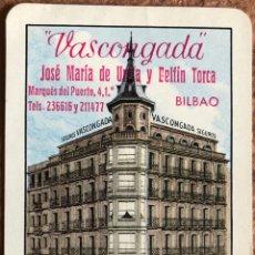 Coleccionismo Calendarios: VASCONGADA SEGUROS. CALENDARIO HERACLIO FOURNIER DE 1971. AGENTE: JOSÉ MARÍA DE URETA Y DELFÍN TORCA. Lote 203844391