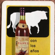 Coleccionismo Calendarios: COÑAC FELIPE II. CALENDARIO HERACLIO FOURNIER DE 1968.. Lote 204098768